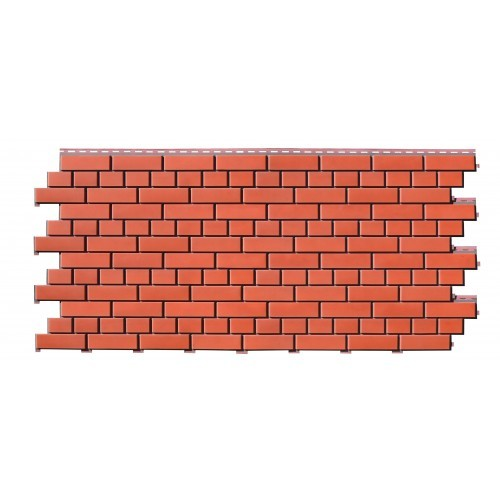 Фасадные панели (Цокольный Сайдинг) Доломит Кирпич Красный