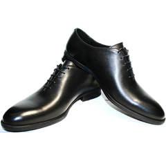 Туфли под серый костюм Ikos 006-1 Black