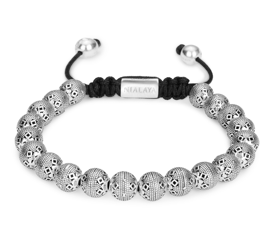 "Premium браслеты Браслет Nialaya Beaded Bracelet with Indian Silver Cairo Beads ""шамбала"" 144b6b463599bbb7d0b1b7fa079bdd36.JPG"