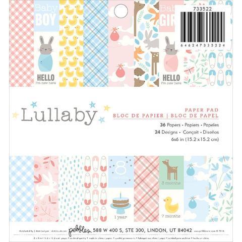 Набор бумаги 15х15 см Pebbles Single-Sided Paper -Lullaby