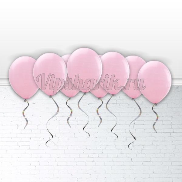 Шарики под потолок Розовые (металлик) 30 см.