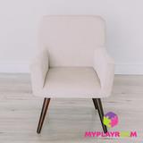 Детское стильное кресло в стиле 60-х, песочный 3