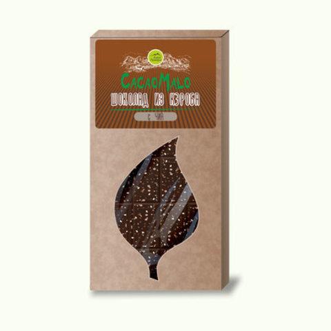 CacaoMalo шоколад из кэроба необжареного с чиа 75 г