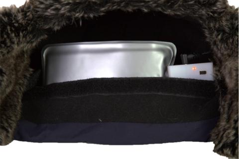 Шапка с подогревом Redlaika RL-G-AA(синяя, серая), на батарейках