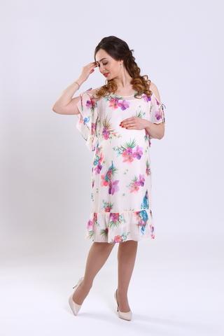 Платье для беременных 08725 кремовый
