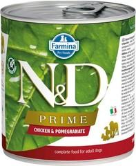 Фармина Prime N&D 285 гр консервы для собак курица с гранатом