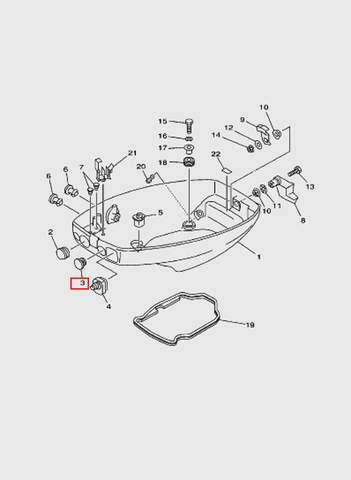 Заглушка  для лодочного мотора T15, OTH 9,9 SEA-PRO (10-3)