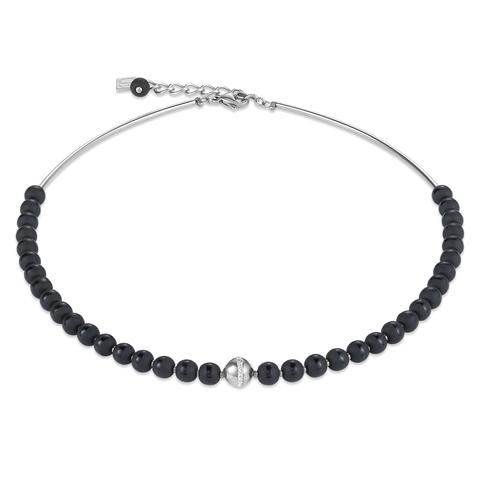 Колье Coeur de Lion 4971/10-1700 цвет чёрный, серебряный