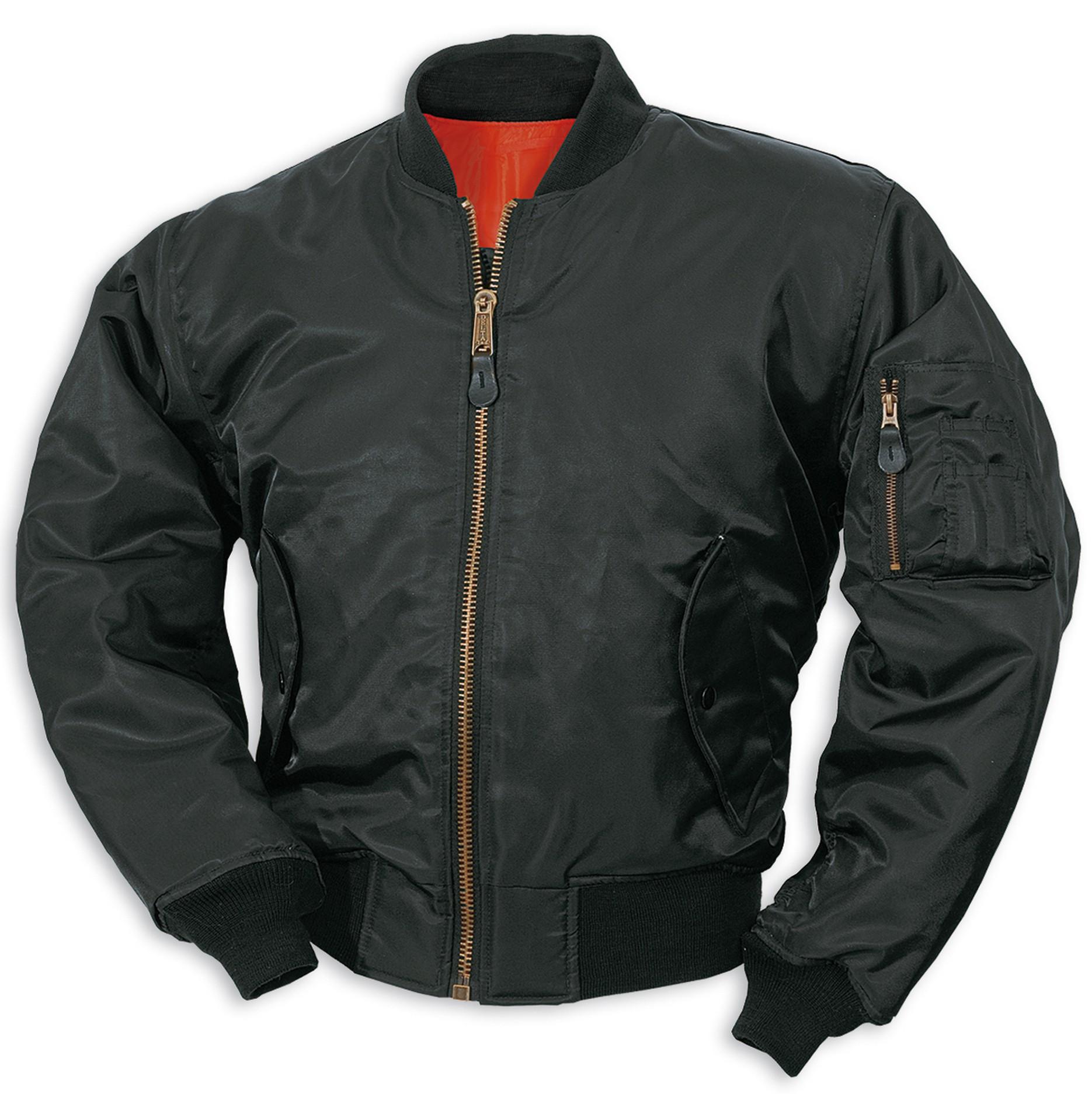 Куртка Бомбер - MA-1 Surplus (черная - black)