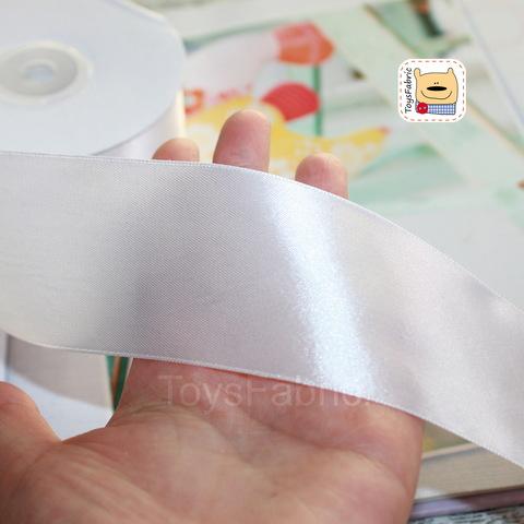 Лента атласная 50мм ЛА50-01 (белая) 90см