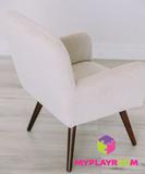 Детское стильное кресло в стиле 60-х, песочный 4