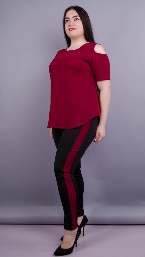 Ейра. Модний жіночий костюм великих розмірів. Бордо. - купить по ... 941f85e80325a