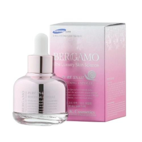 Сыворотка с экстрактом муцина улитки Bergamo Pure Snail Whitening Ampoule 30мл