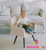 Детское стильное кресло в стиле 60-х, песочный 5
