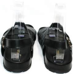 Сандалии мужские черные Louis Vuitton 1008 01Blak.