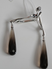 Ипсилон (серьги из серебра)