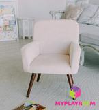 Детское стильное кресло в стиле 60-х, песочный 6