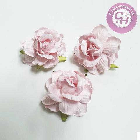 Чайная роза из бумаги на проволоке, 4 см., 1 шт.