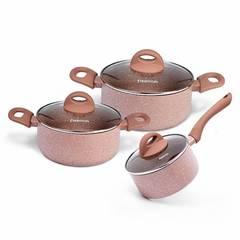 Набор посуды 6 пр. LATTE (алюминий)