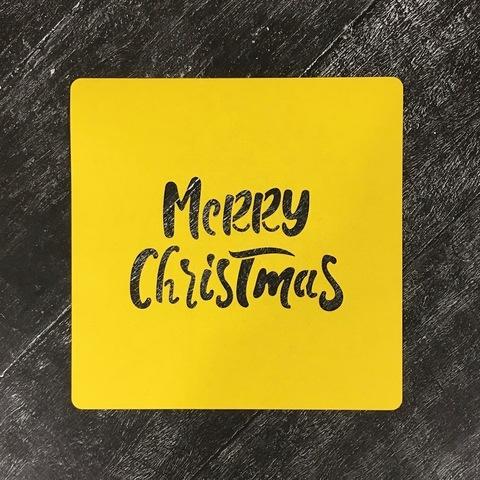 Трафарет новогодний №21 Merry Christmas