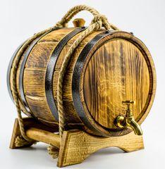 Дубовая бочка для алкоголя Премиум, 5 литров