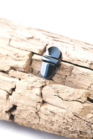 Портфельный замок черный никель