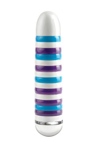 Вибратор керамический №8 бирюзово-фиолетовый,  17,5 см,  диаметр 3,8 см