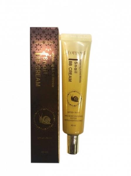 Deoproce Крем ББ с экстрактом улитки Whitening and Anti-wrinkle Snail BB Cream SPF50+ PA+++, 40 мл