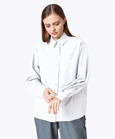 Хлопковая рубашка белого цвета