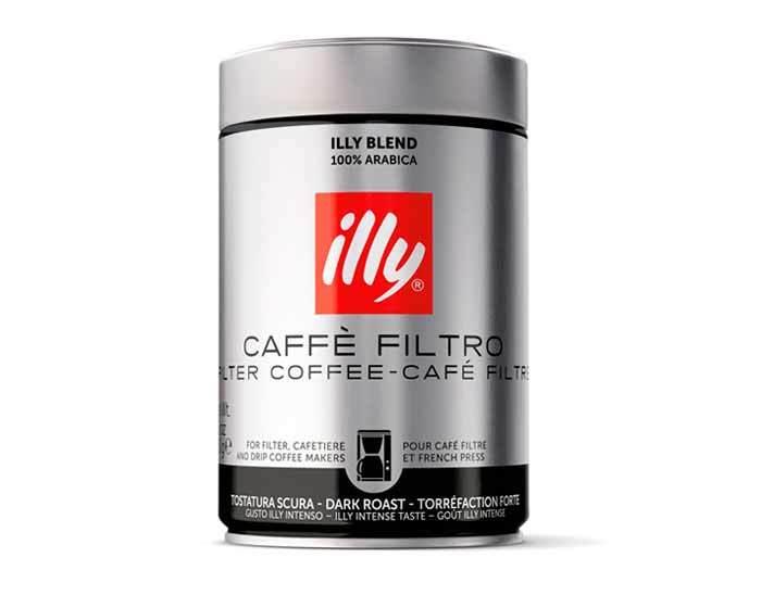 Кофе молотый Illy Caffe Dark фильтр, 250 г (Илли)