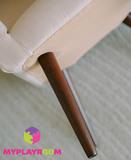 Детское стильное кресло в стиле 60-х, песочный 7