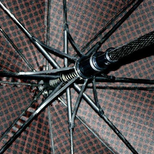 Зонт-трость Maison Perletti 16228-brown-Geometric design