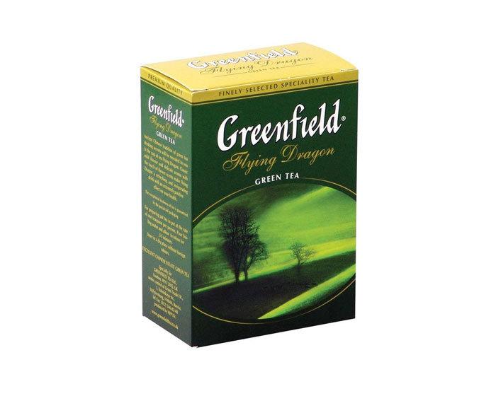 Чай зеленый листовой Greenfield Flying Dragon, 100 г (Гринфилд)