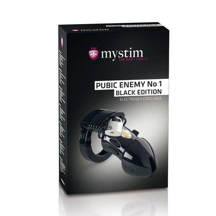 Электростимуляторы: Пояс верности с электростимуляцией Mystim Pubic Enemy No1 Black Edition