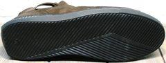 Кроссовки с черной подошвой мужские Luciano Bellini 71748 Brown