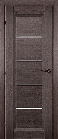Дверь Краснодеревщик ДО 3352, цвет чёрный дуб, остекленная