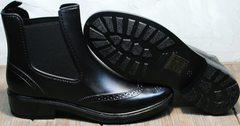 Ботинки резиновые женские черные W9072Black