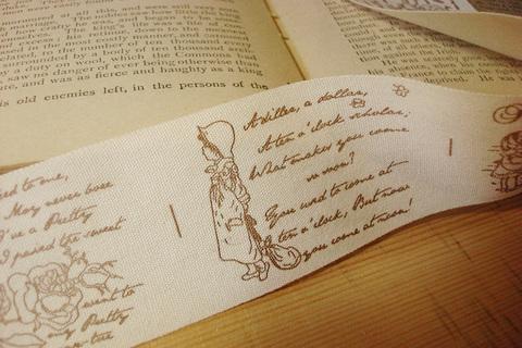 Тесьма декоративная с рисунком «Слова»