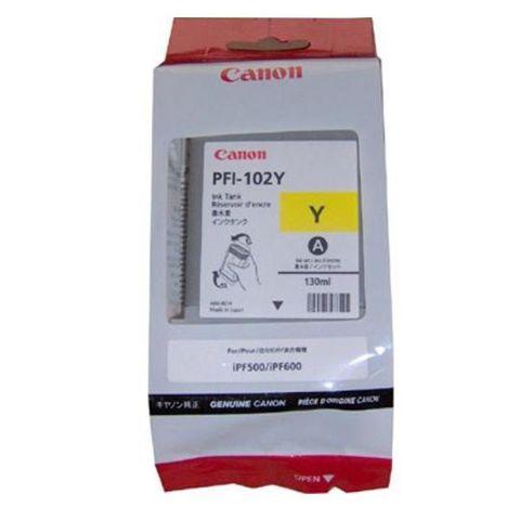 Картридж CANON PFI-102Y Yellow для ImagePROGRAF IPF-500/600/700 (0898B001)