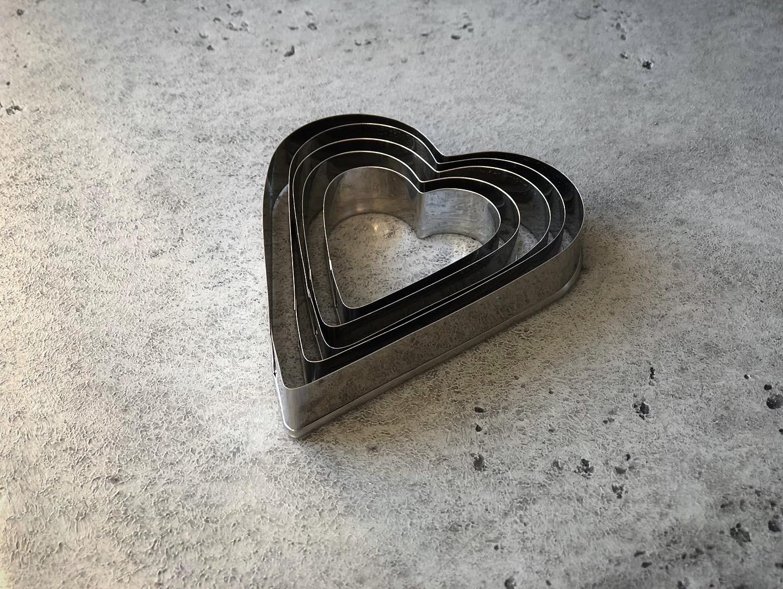 Набор вырубок «Сердца», 5 шт
