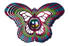 Ветряной спиннер Бабочка с перламутровым шаром 25см (Iron Stop)