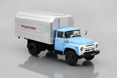 ZIL-130 LuMZ-890B refrigerator blue-gray 1:43 DeAgostini Auto Legends USSR Trucks #12