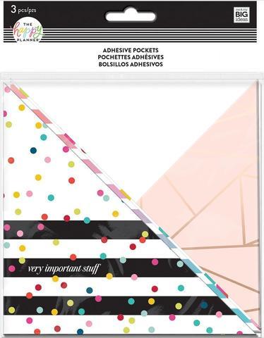 Кармашки- уголки для ежедневника Rainbow Stripe - Adhesive Pocket  - 3 шт.