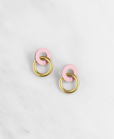 Серьги Mini Isla Earrings in Rose