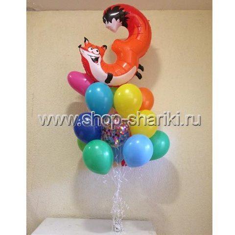shop-shariki.ru фонтан из шаров на день рождения 3 лиса + шарики