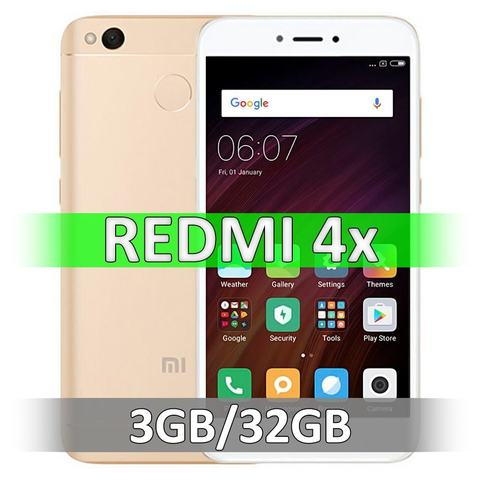 Смартфон Xiaomi Redmi 4X (3-32Gb) Gold