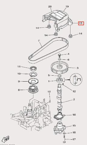 Кожух для лодочного мотора F9,9 Sea-PRO (8-13)