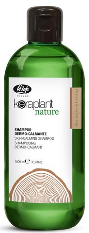 Успокаивающий шампунь для чувствительной кожи головы - Lisap Keraplant Nature Skin-Calming Shampoo 1000 мл