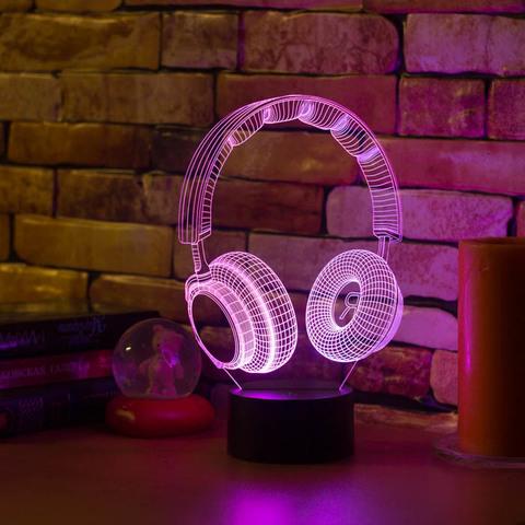 3D светильник Наушники