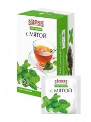 БЕЛТЕЯ Тонизирующий чай черный 20пак с мятой при простудных заболеваниях